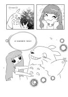 Meekakitty meets Totoro by AnimeChi