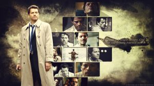Supernatural Wallpaper - Castiel by Sidhrat