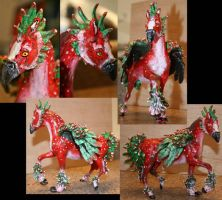 Christmas Griffon Custom by AlbinoRaven666