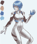 Ayanami Rei from a given palette by RedGrasss