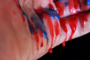 Blue and Red Spill 2 by AgatsumaSoubisan