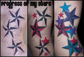 Star tattoo by AmberlyStorm