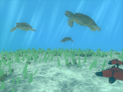 Sea grass for dinner by Tote-Meistarinn