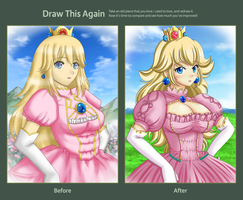 Draw this Again : Princess Peach by Artemisumi