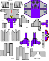 Astrotrain papercraft by transformersnewchapt