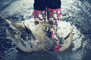 Splashing In Puddles by akrPhotography