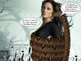 Kaa captures and hypnotizes Jennifer Lopez by 0-Padme-Amidala-0