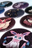 Eeveelution Button Set by IamSare