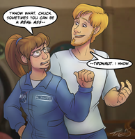 P51 - Maya and Chuck by In-Tays-Head