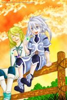 Best Friends - Genis : Mithos by moonlitsakura