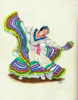 colorful mexican dancer by winstonscreator