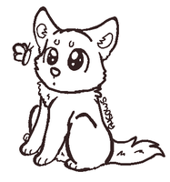 free dog lineart by P0CKYY