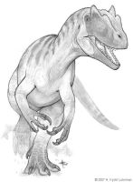 Allosaurus fragilis by kyoht