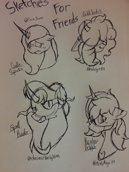 Sketches For Friends by StarHeartWaveSong