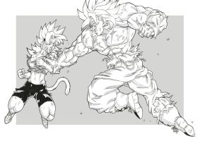 DBZ FC T4 Round 1 : Gasho vs Lady by bloodsplach