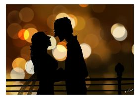 Love in Bokeh town by ArtofRoshan