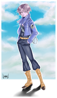 Trunks : The solitary boy from the future by 18j