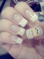 Rilakkuma Inspired Gel Nails by CelestialGreen