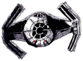 TIE Advanced x1 Starfighter by Gardek
