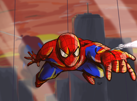 Spiderman by Jurassiczalar