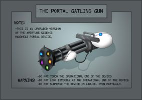 Portal: The Portal Gatling Gun by Comedic44