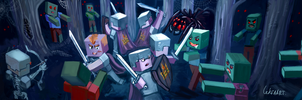 Minecraft fanart by LeksaArt