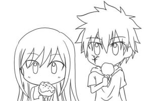 Ice Cream Steal - Erza X Jellal by KagomeChan27
