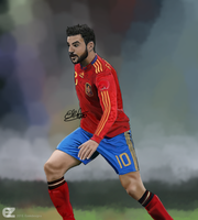 Cesc Fabregas painting by ezekdesigns
