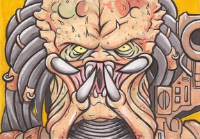 Predator 2 Pc Puzzle Personal Sketch Card by Tyrant-1