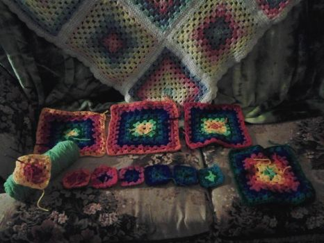 crochet project WIP 1 by VioletWhirlwind