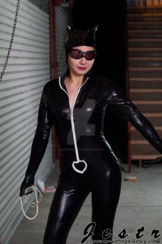 Catwoman Cosplay (Reeling in the goods) by SapphireEagle
