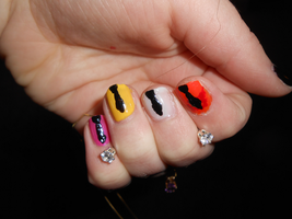 Reservoir Dogs Nails by TheSimpsonsFanGirl