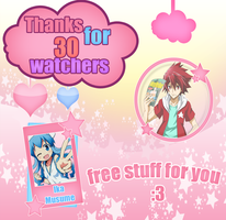 Free Stuff 'Thanks for 30 watchers' by AzusaCaky