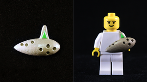 LEGO 3D Printed Painted Fairy Ocarina by mingles