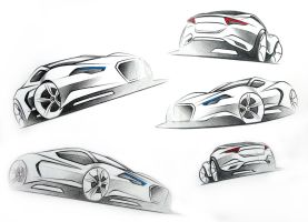Sports Car Sketches by LoccoRico