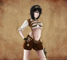 Anime Steampunk (Bleach Rukia) by Kuronah