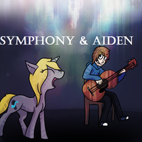 Gravity falls style (D.I.D) .:Symphony and Aiden:. by PuddingzWolf