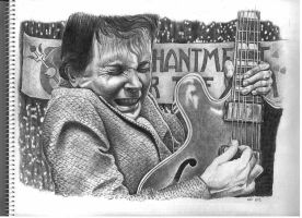 Marty McFly in ballpoint pen by keiross