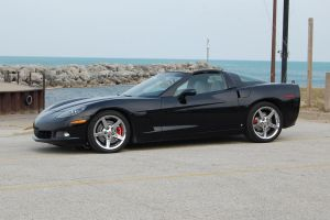 corvette on the beach by JDAWG9806