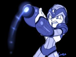 Mega Man X blue doodle by rongs1234