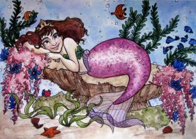 Madelyn the Mermaid by AucoinArt