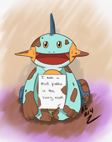 Marshtomp- Pokeshame by Mendrea