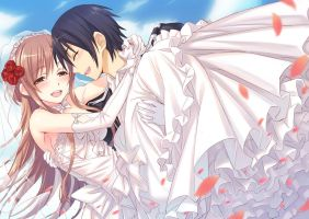 Kirito and Asuna's Wedding by flower8244