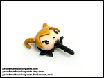 Loki Mobile Phone Dust Plug by GrandmaThunderpants