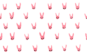 Little Rabbits Lined Up Wallpaper by beyourpet