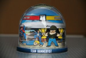 Fallout Snowglobe - Team Hammerfist by iSeptem
