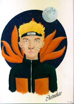 Naruto in Acrylics by chestnuthare