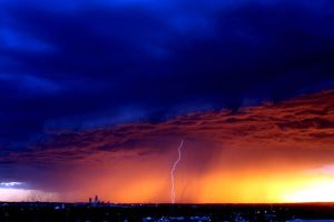 Storm Outside Omaha by tbertz