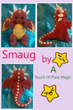 new Smaug plushie by willowthepixie