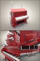 Truck Piano by 0111100001000100